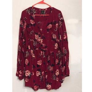 Torrid Floral Smocked Fall Blouse